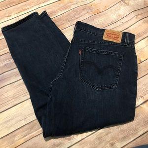 Levi's Dark Wash Denim Boyfriend Jeans